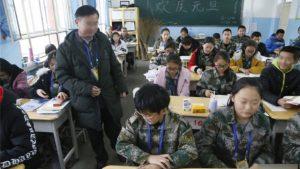 新疆支教老師正在上課(網絡圖片)