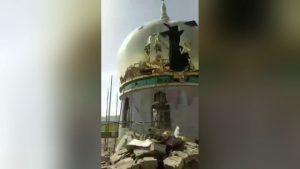 當局強拆清真寺現場