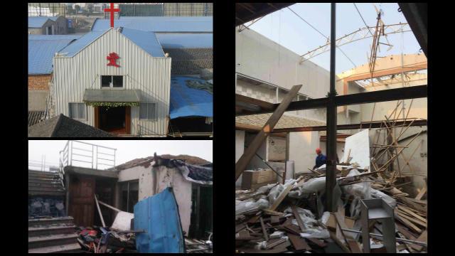 教堂被拆毀(知情人提供)