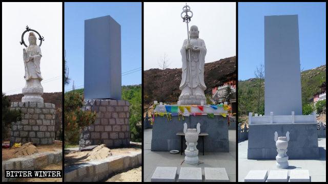 慈航寺的佛像被封蓋