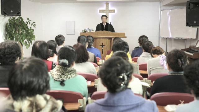 韓籍牧師正在講道(網絡圖片)
