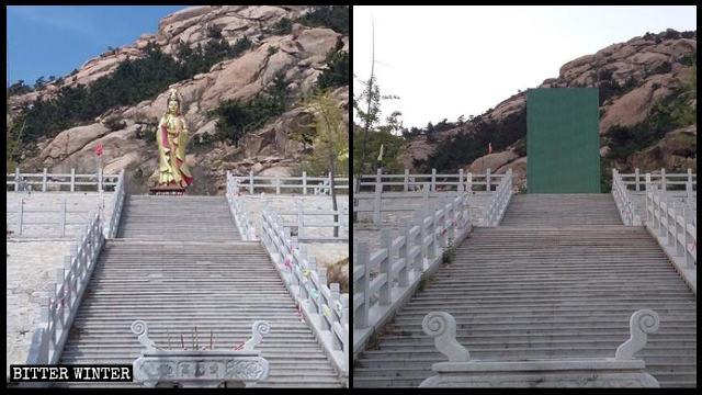 高福寺觀音像被封蓋前後