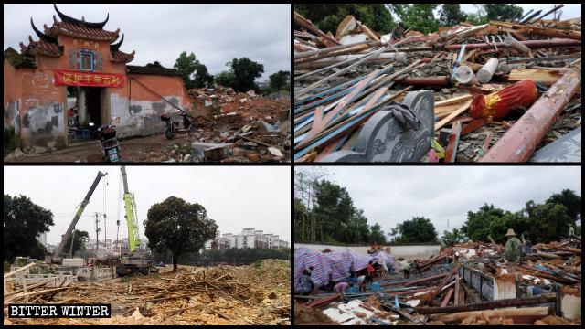 復興庵被拆毀