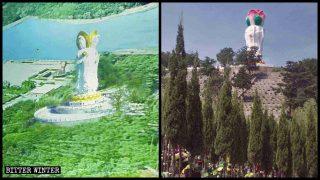 旅遊區大型佛像持續遭拆 墓園觀音像為逃拆被迫「腦袋開花」