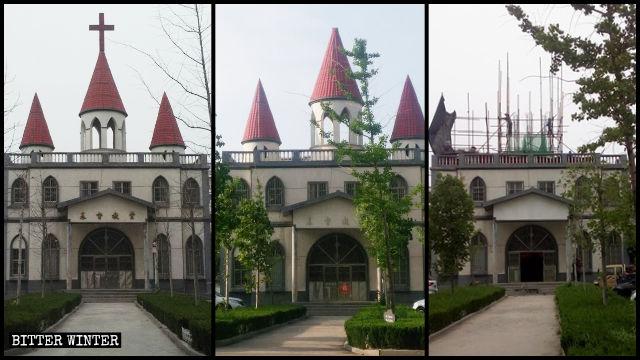 山東一教堂因太西式被拆除十字架後又遭改造