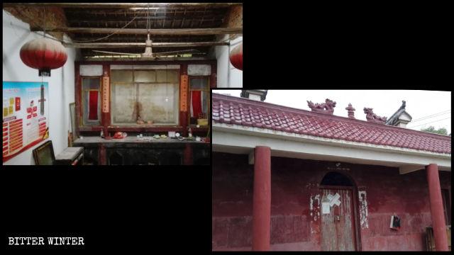 祝家廟佛像被搬空,並被貼上封條